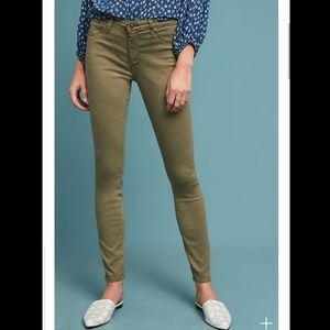 Anthro: AG Abbey Ankle Jeans Mid-Rise Sateen Pants